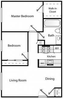 2 Bed / 1 Bath / $400 / Rent: $1,370