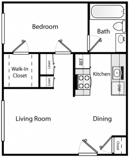1 Bed / 1 Bath / Deposit: $400 / Rent: $1,195